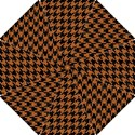 HOUNDSTOOTH1 BLACK MARBLE & RUSTED METAL Hook Handle Umbrellas (Small) View1