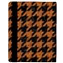 HOUNDSTOOTH1 BLACK MARBLE & RUSTED METAL Apple iPad 3/4 Flip Case View3
