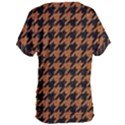 HOUNDSTOOTH1 BLACK MARBLE & RUSTED METAL Women s Oversized Tee View2