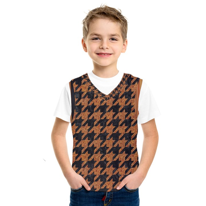 HOUNDSTOOTH1 BLACK MARBLE & RUSTED METAL Kids  SportsWear