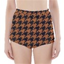 HOUNDSTOOTH1 BLACK MARBLE & RUSTED METAL High-Waisted Bikini Bottoms View1