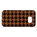 HOUNDSTOOTH1 BLACK MARBLE & RUSTED METAL Samsung Galaxy S7 Edge Hardshell Case View1