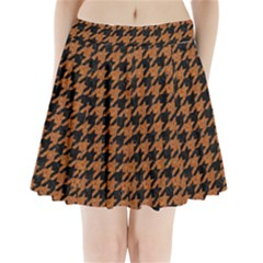 Houndstooth1 Black Marble & Rusted Metal Pleated Mini Skirt