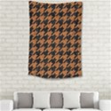 HOUNDSTOOTH1 BLACK MARBLE & RUSTED METAL Small Tapestry View2