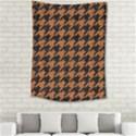 HOUNDSTOOTH1 BLACK MARBLE & RUSTED METAL Medium Tapestry View2