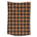 HOUNDSTOOTH1 BLACK MARBLE & RUSTED METAL Large Tapestry View1