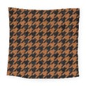 HOUNDSTOOTH1 BLACK MARBLE & RUSTED METAL Square Tapestry (Large) View1