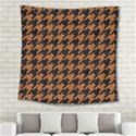 HOUNDSTOOTH1 BLACK MARBLE & RUSTED METAL Square Tapestry (Large) View2