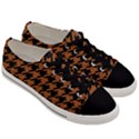 HOUNDSTOOTH1 BLACK MARBLE & RUSTED METAL Men s Low Top Canvas Sneakers View3