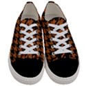 HOUNDSTOOTH1 BLACK MARBLE & RUSTED METAL Women s Low Top Canvas Sneakers View1