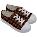 HOUNDSTOOTH1 BLACK MARBLE & RUSTED METAL Kids  Low Top Canvas Sneakers View3