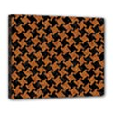 HOUNDSTOOTH2 BLACK MARBLE & RUSTED METAL Deluxe Canvas 24  x 20   View1