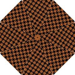 Houndstooth2 Black Marble & Rusted Metal Hook Handle Umbrellas (small)