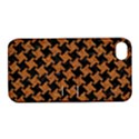 HOUNDSTOOTH2 BLACK MARBLE & RUSTED METAL Apple iPhone 4/4S Hardshell Case with Stand View1