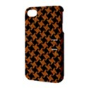 HOUNDSTOOTH2 BLACK MARBLE & RUSTED METAL Apple iPhone 4/4S Hardshell Case with Stand View3