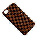 HOUNDSTOOTH2 BLACK MARBLE & RUSTED METAL Apple iPhone 4/4S Hardshell Case with Stand View5