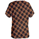 HOUNDSTOOTH2 BLACK MARBLE & RUSTED METAL Women s Oversized Tee View2