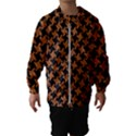 HOUNDSTOOTH2 BLACK MARBLE & RUSTED METAL Hooded Wind Breaker (Kids) View1