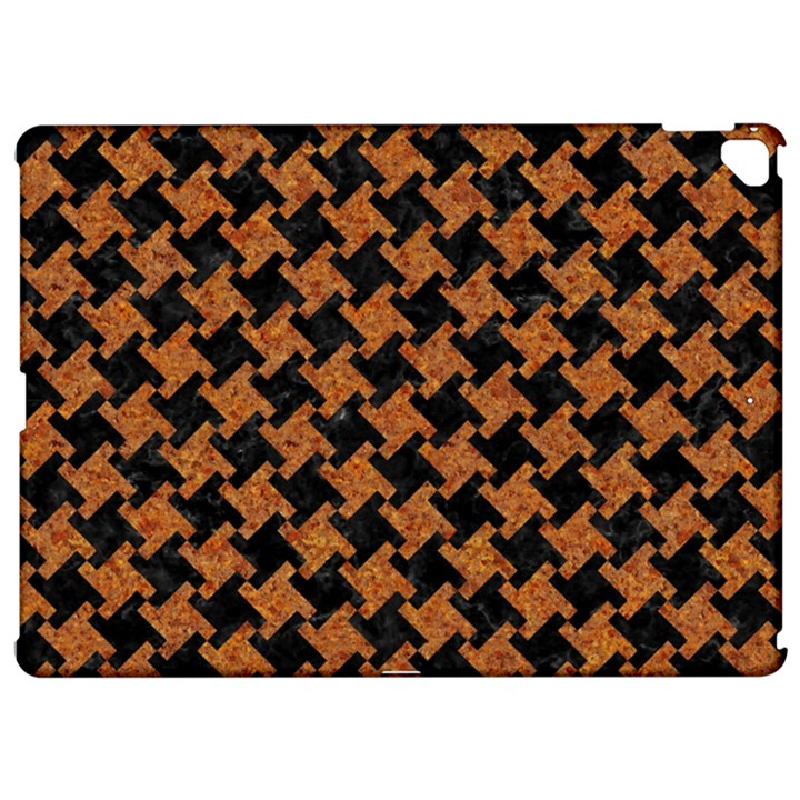 HOUNDSTOOTH2 BLACK MARBLE & RUSTED METAL Apple iPad Pro 12.9   Hardshell Case