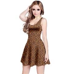 Hexagon1 Black Marble & Rusted Metal Reversible Sleeveless Dress
