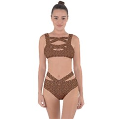 Hexagon1 Black Marble & Rusted Metal Bandaged Up Bikini Set