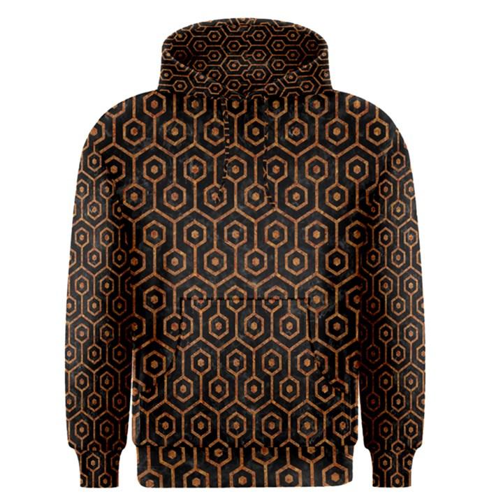 HEXAGON1 BLACK MARBLE & RUSTED METAL (R) Men s Pullover Hoodie