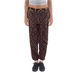 Hexagon1 Black Marble & Rusted Metal (r) Women s Jogger Sweatpants by trendistuff
