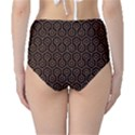 HEXAGON1 BLACK MARBLE & RUSTED METAL (R) High-Waist Bikini Bottoms View2