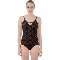 Hexagon1 Black Marble & Rusted Metal (r) Cut Out Top Tankini Set
