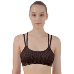 HEXAGON1 BLACK MARBLE & RUSTED METAL (R) Line Them Up Sports Bra