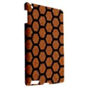 HEXAGON2 BLACK MARBLE & RUSTED METAL Apple iPad 3/4 Hardshell Case View2