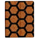 HEXAGON2 BLACK MARBLE & RUSTED METAL Apple iPad 2 Flip Case View1