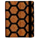 HEXAGON2 BLACK MARBLE & RUSTED METAL Apple iPad 2 Flip Case View2