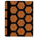 HEXAGON2 BLACK MARBLE & RUSTED METAL Apple iPad 2 Flip Case View3