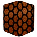 HEXAGON2 BLACK MARBLE & RUSTED METAL Apple iPad 2 Flip Case View4