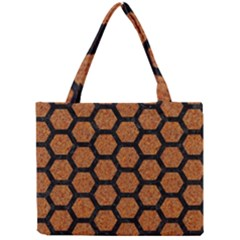 Hexagon2 Black Marble & Rusted Metal Mini Tote Bag by trendistuff