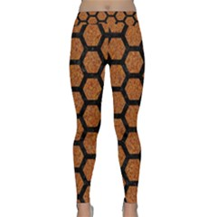 Hexagon2 Black Marble & Rusted Metal Classic Yoga Leggings