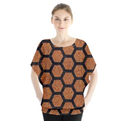 HEXAGON2 BLACK MARBLE & RUSTED METAL Blouse