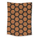 HEXAGON2 BLACK MARBLE & RUSTED METAL Medium Tapestry View1