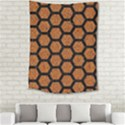HEXAGON2 BLACK MARBLE & RUSTED METAL Medium Tapestry View2