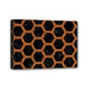 HEXAGON2 BLACK MARBLE & RUSTED METAL (R) Mini Canvas 7  x 5  View1