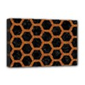 HEXAGON2 BLACK MARBLE & RUSTED METAL (R) Deluxe Canvas 18  x 12   View1