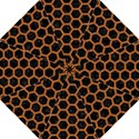 HEXAGON2 BLACK MARBLE & RUSTED METAL (R) Golf Umbrellas View1