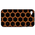HEXAGON2 BLACK MARBLE & RUSTED METAL (R) Apple iPhone 4/4S Hardshell Case (PC+Silicone) View1