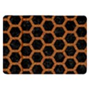HEXAGON2 BLACK MARBLE & RUSTED METAL (R) Samsung Galaxy Tab 8.9  P7300 Flip Case View1