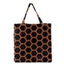 HEXAGON2 BLACK MARBLE & RUSTED METAL (R) Grocery Tote Bag View1