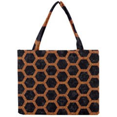 Hexagon2 Black Marble & Rusted Metal (r) Mini Tote Bag by trendistuff