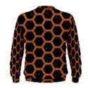 HEXAGON2 BLACK MARBLE & RUSTED METAL (R) Men s Sweatshirt View2