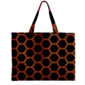 HEXAGON2 BLACK MARBLE & RUSTED METAL (R) Zipper Mini Tote Bag View1