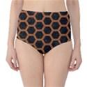 HEXAGON2 BLACK MARBLE & RUSTED METAL (R) High-Waist Bikini Bottoms View1
